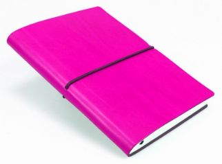 Ciak Pink ruled leather notebook